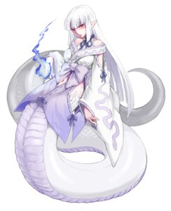 Rating: Safe Score: 26 Tags: japanese_clothes kenkou_cross monster_girl pointy_ears tail User: NotRadioactiveHonest