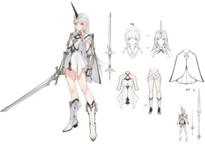 Rating: Questionable Score: 8 Tags: armor character_design fly_tutu horns pointy_ears sketch sword tagme User: Dreista
