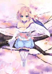 Rating: Questionable Score: 64 Tags: cleavage konno_kengo lolita_fashion open_shirt thighhighs wa_lolita User: Twinsenzw