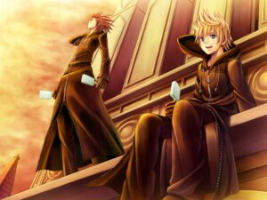 Rating: Safe Score: 17 Tags: axel kingdom_hearts male namaru roxas wallpaper User: hobbito