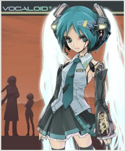 Rating: Safe Score: 6 Tags: hatsune_miku headphones le0 mecha_musume thighhighs vocaloid User: Radioactive