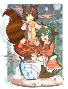 Rating: Safe Score: 7 Tags: animal_ears futatsuiwa_mamizou itomugi-kun kasodani_kyouko tail touhou User: vanilla