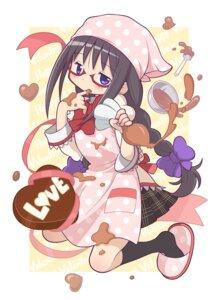 Rating: Safe Score: 18 Tags: akemi_homura cream gecchu megane puella_magi_madoka_magica seifuku valentine User: Radioactive