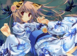 Rating: Safe Score: 43 Tags: animal_ears mitsumi_misato nekomimi yukata User: admin2