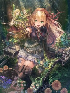 Rating: Safe Score: 57 Tags: arisa_(shadowverse) fairy kuroi_susumu pointy_ears shadowverse sword thighhighs weapon wings User: Mr_GT