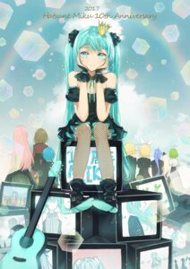 Rating: Safe Score: 25 Tags: dangmill fishnets guitar hatsune_miku kagamine_len kagamine_rin megurine_luka vocaloid User: Mr_GT