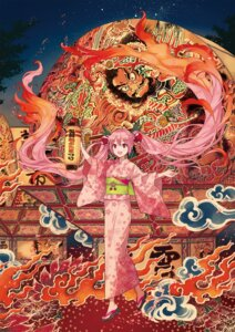 Rating: Safe Score: 25 Tags: hatsune_miku ixima sakura_miku vocaloid yukata User: yanis