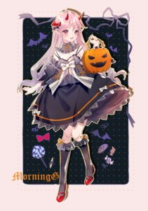 Rating: Safe Score: 3 Tags: halloween heels horns pointy_ears yuzhi User: Mr_GT