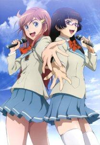Rating: Safe Score: 42 Tags: katou_marika kurihara_chiaki megane mouretsu_pirates seifuku thighhighs yoshikawa_maho User: Jigsy