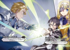 Rating: Safe Score: 10 Tags: abec alice_schuberg armor eugeo eyepatch kirito sword sword_art_online sword_art_online_alicization User: kiyoe