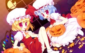 Rating: Safe Score: 15 Tags: flandre_scarlet halloween meito remilia_scarlet touhou wallpaper wings User: fairyren