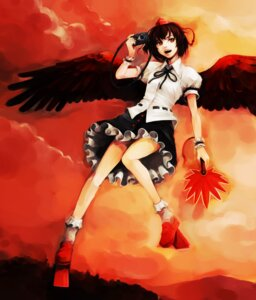 Rating: Safe Score: 12 Tags: hironox shameimaru_aya touhou wings User: konstargirl