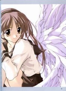 Rating: Safe Score: 4 Tags: fixme hizuki_ayaka memories_off sasaki_mutsumi seifuku stitchme wings User: Davison