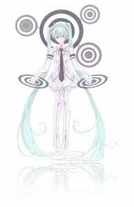 Rating: Safe Score: 10 Tags: hatsune_miku kasugasono thighhighs vocaloid User: charunetra
