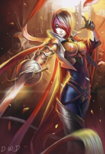 Rating: Safe Score: 43 Tags: armor bodysuit dantewontdie fiora league_of_legends sword thighhighs User: Radioactive