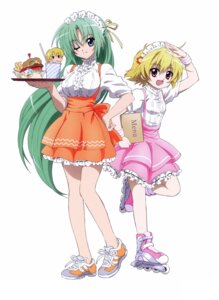 Rating: Safe Score: 25 Tags: higurashi_no_naku_koro_ni houjou_satoko sakai_kyuuta sonozaki_shion waitress User: Radioactive