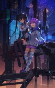 Rating: Safe Score: 43 Tags: choujigen_game_neptune cleavage neptune noire swd3e2 thighhighs User: RyuZU
