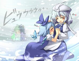 Rating: Safe Score: 6 Tags: beihan cirno daiyousei letty_whiterock touhou wings User: konstargirl