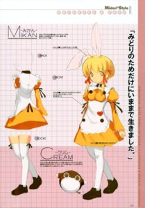 Rating: Safe Score: 5 Tags: achunchun animal_ears bunny_ears cream_(greenwood) greenwood mikan User: midzki