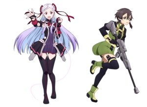 Rating: Safe Score: 16 Tags: dress gun megane sword_art_online thighhighs uniform User: drop