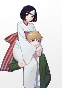 Rating: Safe Score: 29 Tags: kimono nora noragami thank_star yukine User: charunetra