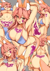 Rating: Questionable Score: 15 Tags: animal_ears ass bikini cameltoe erect_nipples fate/extra fate/stay_night kitsune panty_pull swimsuits tail tamamo_no_mae tattoo topless undressing wisespeak User: BattlequeenYume