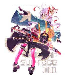 Rating: Safe Score: 12 Tags: garter headphones heels japanese_clothes megane pantyhose sakuya_tsuitachi sword tagme User: Radioactive