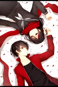 Rating: Safe Score: 29 Tags: kagerou_project kisaragi_shintarou mekakucity_actors rara seifuku tateyama_ayano User: sylver650