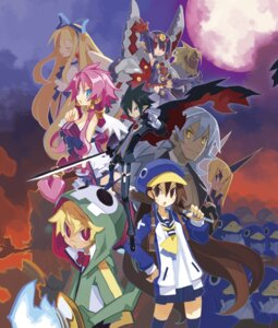 Rating: Safe Score: 14 Tags: axel_(disgaea) cleavage desco disgaea disgaea_4 dress flonne harada_takehito kazamatsuri_fuuka pointy_ears prinny sword thighhighs vulcanus weapon wings User: NotRadioactiveHonest