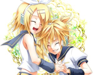 Rating: Safe Score: 6 Tags: headphones kagamine_len kagamine_rin ueno_tsuki vocaloid User: charunetra