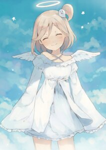 Rating: Safe Score: 42 Tags: dress girlfriend_(kari) komazu mishima_yurara wings User: charunetra