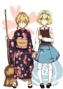 Rating: Safe Score: 14 Tags: aili_(aliceandoz) alice_margatroid kimono kirisame_marisa megane seifuku touhou User: Radioactive