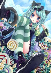 Rating: Safe Score: 58 Tags: animal_ears kuro_tsumugi_kanae nekomimi thighhighs vocaloid User: Mistalleks