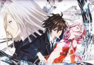 Rating: Questionable Score: 24 Tags: guilty_crown ouma_shuu shinomiya_ayase tsutsugami_gai User: yd6137