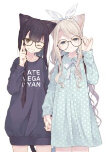 Rating: Safe Score: 40 Tags: animal_ears dress megane nekomimi sweater tail tokuno_yuika User: Spidey