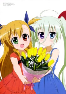 Rating: Safe Score: 28 Tags: dress einhart_stratos heterochromia mahou_shoujo_lyrical_nanoha mahou_shoujo_lyrical_nanoha_vivid vivio yamano_masaaki User: drop