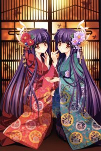 Rating: Safe Score: 66 Tags: carnelian kimono kuraki_mizuna kuraki_suzuna moonlight_lady orbit User: Radioactive