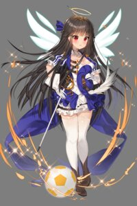Rating: Safe Score: 19 Tags: cleavage dress soccer soccer_spirits sword thighhighs transparent_png wings User: Sunimo