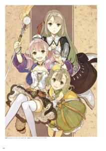 Rating: Safe Score: 18 Tags: atelier atelier_escha_&_logy cleavage digital_version dress escha_malier hidari jpeg_artifacts linca lucille_ernella thighhighs weapon User: Shuumatsu