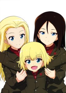 Rating: Safe Score: 6 Tags: clara_(girls_und_panzer) girls_und_panzer kanau katyusha nonna uniform User: drop