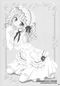 Rating: Questionable Score: 6 Tags: cleavage erect_nipples lolita_fashion monochrome oshaban sasahiro User: midzki
