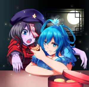 Rating: Safe Score: 17 Tags: cleavage kaku_seiga koissa miyako_yoshika touhou User: Mr_GT
