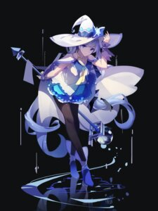 Rating: Questionable Score: 65 Tags: dress hatsune_miku heels pantyhose red_flowers vocaloid weapon witch User: Mr_GT