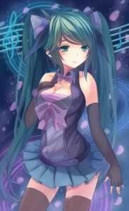 Rating: Safe Score: 64 Tags: cleavage hatsune_miku thighhighs vocaloid youxuemingdie User: Romio88