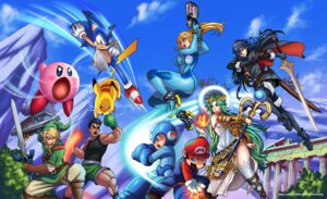 Rating: Safe Score: 6 Tags: armor bodysuit crossover darkereve dress fire_emblem gun heels kid_icarus kirby kirby_(character) link little_mac lucina_(fire_emblem) mario mario_bros. metroid palutena pikachu pointy_ears pokemon punch-out!! rockman rockman_(character) samus_aran sonic sonic_(character) super_smash_bros. sword the_legend_of_zelda thighhighs weapon User: Werewolverine4