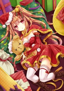 Rating: Safe Score: 58 Tags: asahina_momoko christmas cleavage girlfriend_(kari) tamashiro thighhighs User: KazukiNanako