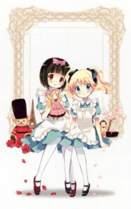 Rating: Safe Score: 45 Tags: alice_cartelet hara_yui kin'iro_mosaic oomiya_shinobu User: yong