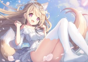 Rating: Questionable Score: 93 Tags: animal_ears censored dress kitsune milia_leclerc nopan p19 skirt_lift tail thighhighs User: Dreista