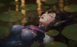 Rating: Questionable Score: 37 Tags: autographed bodysuit d.va dao_trong_le headphones overwatch torn_clothes wet User: charunetra