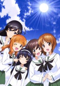 Rating: Safe Score: 10 Tags: akiyama_yukari girls_und_panzer isuzu_hana nishizumi_miho reizei_mako seifuku takebe_saori User: drop